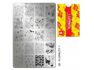 STAMPING FLORALITY 1 PLATE - MOYRA - 06