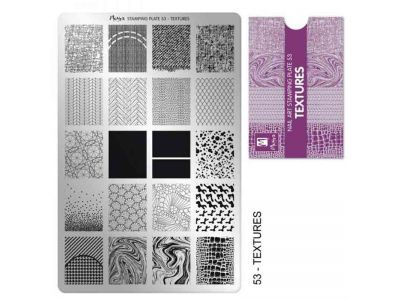 STAMPING TEXTURE PLATE - MOYRA - 53